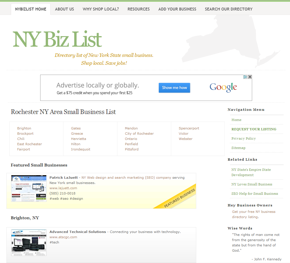 NY Small Business Directory | Free list of small businesses